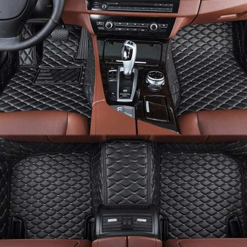 Custom Fit Luxury Car Mats Black & Biege