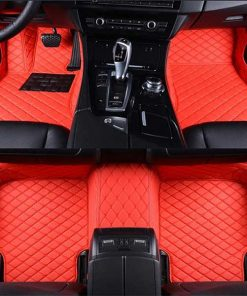 Custom Fit Luxury Car Mats Red