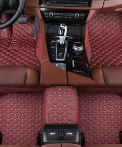 Custom Fit Luxury Car Mats Red Wine