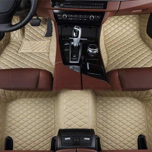 Custom Fit Luxury Car Mats Biege