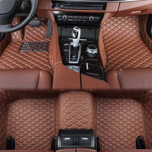 Custom Fit Luxury Car Mats Brown